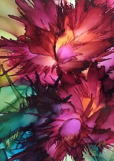 Wild Flowers ~Alcohol Ink on Yupo paper Gicleé prints Art Cards available soon. Please contact me for pricing - DIY Project Idea Alcohol Ink Crafts, Alcohol Ink Painting, Alcohol Ink Art, Alcohol Store, Watercolor Artists, Watercolor Paintings, Watercolor Tattoos, Watercolors, Watercolor Paper