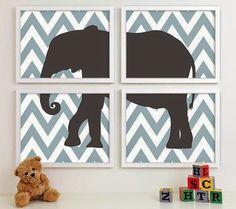 Quartinhos de bebê com tema elefante - Blog Encantada
