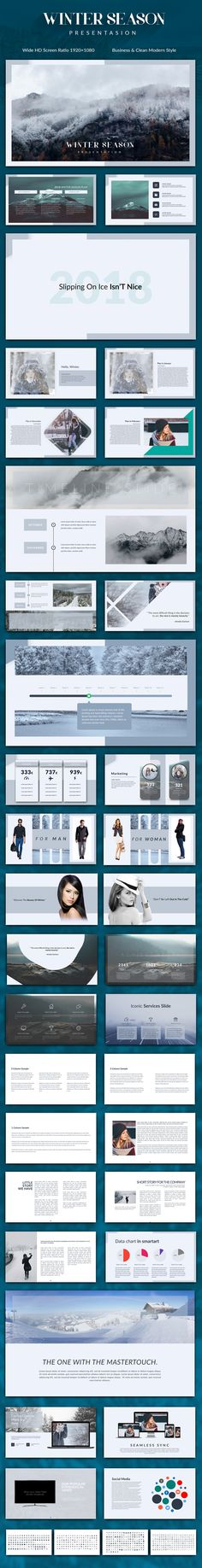 Montblanc Creative Presentation Pinterest Presentation templates - winter powerpoint template