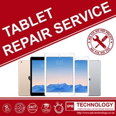 IPB technology offers TABLET REPAIR SERVICES, we can fix and repair any tablet from leading tablet manufacturers such Apple. Samsung, Asus, Microsoft and more. We are located in King's Cross London. For more information visit our webpage at: http://www.ipb-technology.co.uk/tablet-repairs/ #tabletrepair #ipbtechnology #tablets #apple #samsung #asus #microsoft