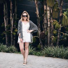 Look fresquinho do fds: macaquinho e kimono @shoulderoficial  #ootd #style #fashion