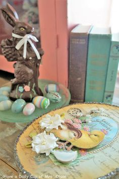 Spreading Easter Joy with Vintage Vignettes Vintage Vignettes, Easter 2018, Joy, Table Decorations, Spring, Ideas, Glee, Being Happy, Thoughts