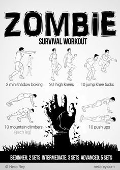 Zombie Survival Workout - http://www.dravenstales.ch/zombie-survival-workout/