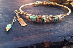 IMAGINE PARADISE Guitar String Charm Bangle.  Stackable, Eco-Friendly Bracelet.  Glass Beaded and Beach Inspired Adornment on Etsy, $32.00