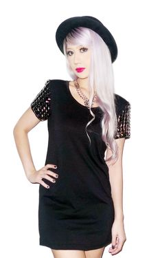 Armour Studded Tunic Dress, THE CULTLABEL