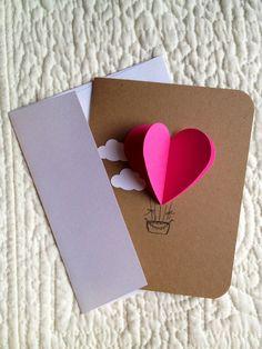Heart Hot Air Balloon Card