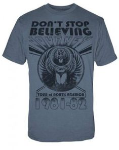 Journey T-shirt Don't Stop Believing Tour 80's classic rock concert cotton tee | Clothing, Shoes & Accessories, Men's Clothing, T-Shirts | eBay!