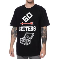 Snag a luxuriously comfortable shirt with the Crooks and Castles Go Getters black tee shirt.