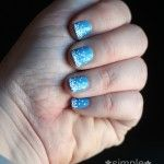 Simple Snowflake Nails