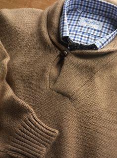 Camelhair Shawl Collar Pullover