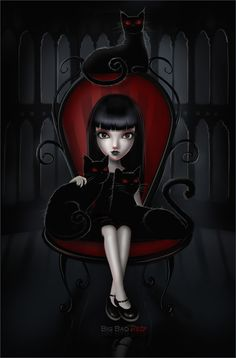 .Emily the Strange by =BigBad-Red