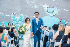 Outdoor wedding ceremony at The Unique Space in Downtown Los Angeles