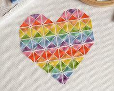 KIT Mandala Cross Stitch Kit Statement by theworldinstitches
