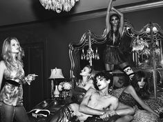 'La Secret Party' by Mert & Marcus for W Magazine September 2015 - Page 3 | The Fashionography