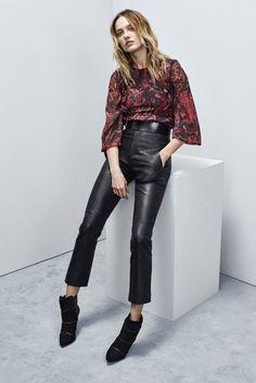 Le Pantalon de cuir Iro FW15  taille haute