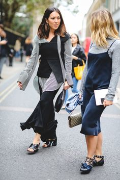 30 Brilliant Street Style Moments From 2016 #refinery29  http://www.refinery29.com/2016/12/133987/best-street-style-2016#slide-28  A masterclass in layering slip dresses during the colder months....