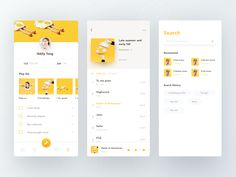 Music App designed by abbily_yang for DCU. Connect with them on Dribbble; the global community for designers and creative professionals. Wireframe Design, App Ui Design, Page Design, Design Layouts, Interface Design, User Interface, Ui Design Mobile, Card Ui, Flat Web Design