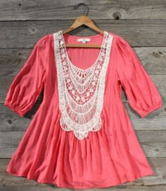 Cute shirt. Love the lace and one of my favorite colors