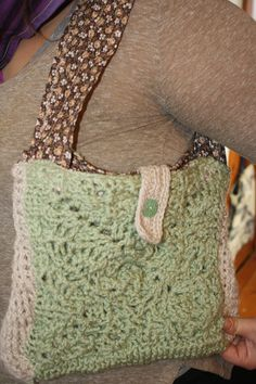 Homemade/ Over-the-Shoulder handbag /  One-of-a-Kind/  Crocheted / Fabric Lined / Light and Stylish/ Spacious/Great Gift / Crisscross Degisn by CrochetHeadToToe on Etsy