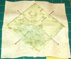 block pinned for topstitching