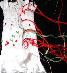 ChristmasBallInsideMaggieb! Cable One, Ornaments Design, Heirloom Sewing, Darning, Christmas Balls, Christmas Gifts, Trellis, Smocking, Bee