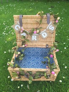 Cute little wicker basket for cards