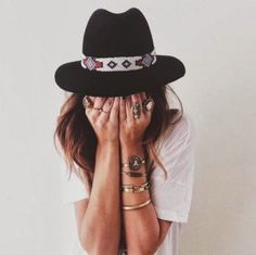 accessories | wear | Indian pattern | black hats | hipster | casual | white tees