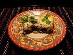 Spinach and Mushroom Enchiladas With Cilantro Cream Sauce