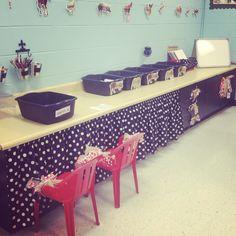More photos from my first grade classroom. Barnyard theme