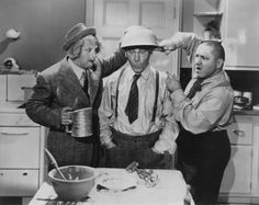 """""""Three Stooges"""" Larry, Curly and Moe circa 1940"""