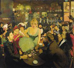 Louis Anquetin's L'Intérieur de chez Bruant: le Mirliton, 1886-87.