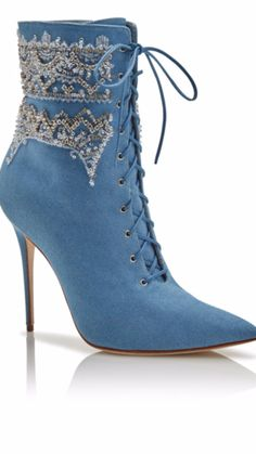 Rihanna and Manolo Blahnik Denim Desserts Shoe collection Bootie Boots, Shoe  Boots, Shoe Bag 6625ebeb57
