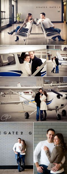Airport Engagement Session- cleveland engagement session
