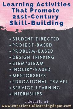 Teaching 21st century skills in your classroom doesn't have to be difficult. 21st-century learners have the wherewithal to take these skills and run with them, but the opportunities need to be there and that is your job; the job of a 21st century teacher. These activities naturally incorporate skill-building as well as content and fun. Check it out. Thinking Stems, 21st Century Classroom, Experiential Learning, Service Learning, 21st Century Skills, Middle School Teachers, Classroom Management, Learning Activities, Curriculum