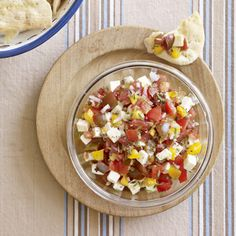 Cubed queso fresco adds richness to this fresh chunky tomato salsa, courtesy of Anna Getty, author of Easy Green Organic.