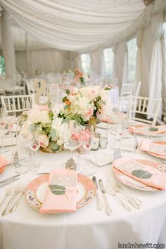 Eventi by Diana Venditto Photos, Wedding Planning Pictures, Maryland - Baltimore and surrounding areas Reception Table, Wedding Table, Wedding Reception, Our Wedding, Wedding Themes, Wedding Decorations, Wedding Ideas, Coral Charm Peony, Low Centerpieces
