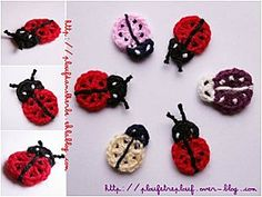petite coccinelle - crochet - so apt considering my store is called Ladybug Crafts :)