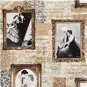 modes 4 u Tela beis retro con parejas por Timeless Treasures