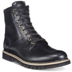Timberland Men's Britton Hill Plain Toe Boots ($200) ❤ liked on Polyvore featuring men's fashion, men's shoes, men's boots, black, mens water proof boots, mens black leather boots, timberland mens boots, timberland mens shoes and mens black leather shoes