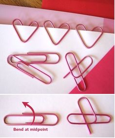 Easy heart paperclips