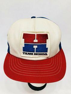 TEAM HONDA Big H  Vintage Mesh Snapback Patch Trucker's Hat/Cap #Honda #TruckerHat