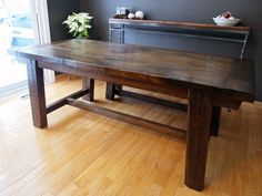 Reclaimed Dining Table – Design and Construction | RyanWalker.ca