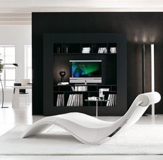 (1) Fancy - Leather Chaise Lounge by Cattelan Italia