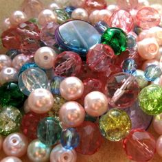 Inspiration Bead Kits: PINK and GREEN £5.50