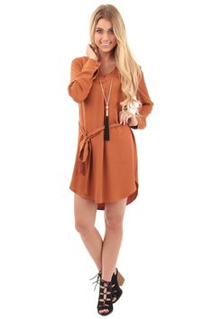 Lime Lush Boutique - Toffee Long Sleeve Waist Tie Dress, $21.95 (http://www.limelush.com/toffee-long-sleeve-waist-tie-dress/)#SALE