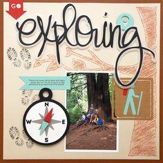 exploring june 2015 - Scrapbook Layout | Cari Locken for SIlhouette
