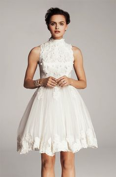 lace little white wedding dresses for the wedding reception LWDs Ted Baker  For photos in Paris