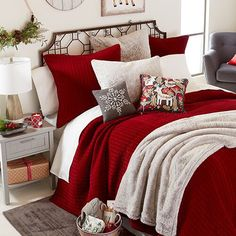 The bedroom is one place in your home where your personality and style can be and should be expressed freely in its interior design. It is a room for your relaxation and comfort. The interior design of the bedroom should… Continue Reading → Christmas Bedding, Christmas Home, Christmas Crafts, Christmas Kitchen, Homemade Christmas, Christmas Recipes, Christmas Lights, Diy Weihnachten, Decorating On A Budget