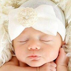 Baby Hospital Hat, white