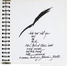 Fonds Carolyn Carlson. IV. Carnets et cahiers de notes. IV.5. Années 2000. Poèmes et dessins, 2005-2008   Gallica